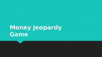 Math Money Jeopardy