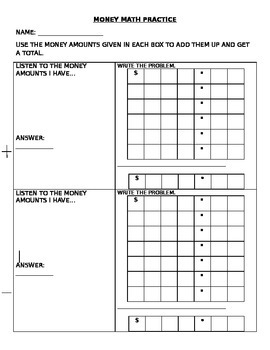 Math Money Practice/ How much money do you have?