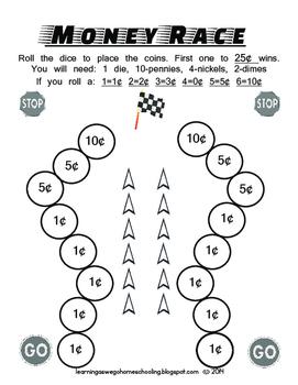Math - Money Racing Game B/W Version