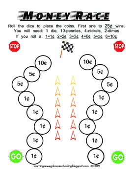 Math - Money Racing Game Color Version