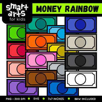 Math Money Rainbow Clip Art