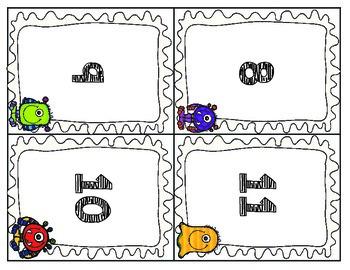 Math Monster Addition FREEBIE!