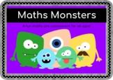 Math Monster Calculation Craft Templates