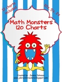Math Monsters 120 Charts FREEBIE