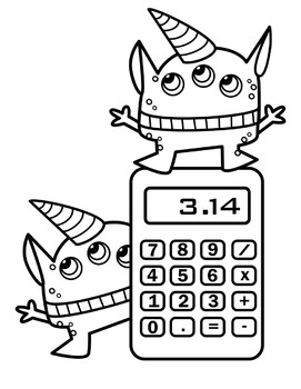 Math Monsters Clipart