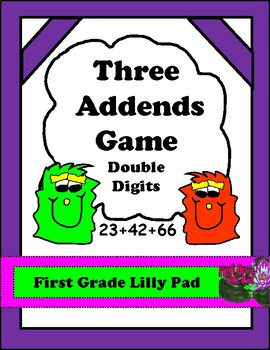 Monster Math: Adding 3 2-digit Numbers