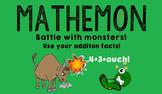 Mathemon - Addition Fact Fluency Card Game (Like Pokemon)