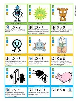 Mathemon Advanced - Multiplication Fact Fluency Card Game (Like Pokemon)