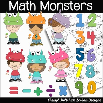 Math Monsters Clipart Collection
