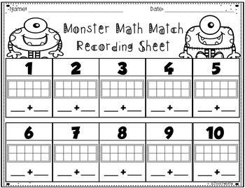 Math Monsters Match'em