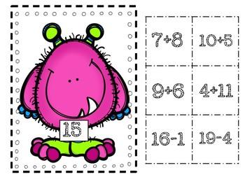 Math Monsters Matching Center