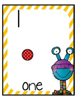 Math Monsters Number Posters: A Monster Themed Teaching Tool Math Poster Set