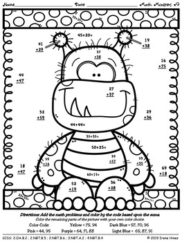 math monsters addition by irene hines teachers pay teachers. Black Bedroom Furniture Sets. Home Design Ideas