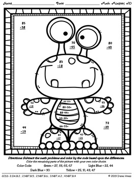 addition with regrouping coloring pages - photo#10