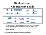 Math---Montessori Bead Bar addition facts