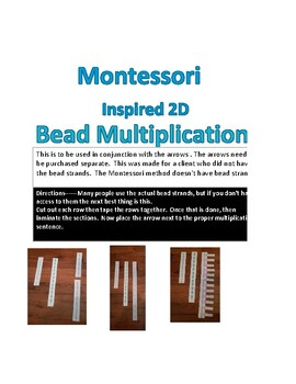 Math--Montessori Bead Multiplication ---2D