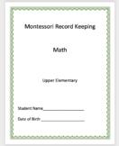Math - Montessori Record Keeping