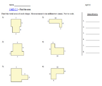 3rd grade Math Monthly Assessment Packet