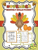 Math Monthly Skills Packet - November Grade 4