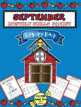Math Monthly Skills Packet - September Grade 4