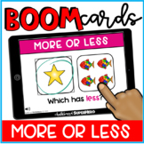 Math: More or Less BOOM CARDS {distance learning}