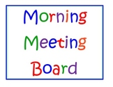 Math Morning Meeting Board 18 pages