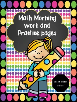 Math Morning Work Pages, Fact Practice and Counting by 2's, 5's and 10's