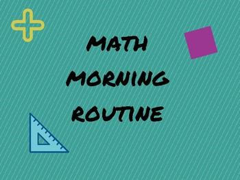 Math Morning Routine