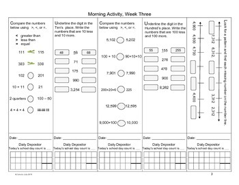 Math in Focus Morning Math Routines Grade 3, Weeks 1- 40