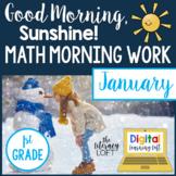 Math Morning Work 1st Grade {January}