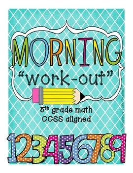 Math Morning Work - 5th Grade {FREEBIE}