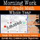 Math Morning Work Bundle