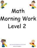 Math Morning Work: Level two