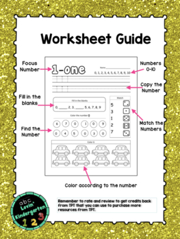 Numbers 0- 20: Kindergarten September Math Morning Work