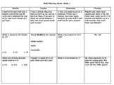 Math Morning Work Packet Bundle (15 Weeks!)