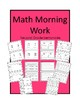 Math Morning Work: Place Value, Addition and Subtraction