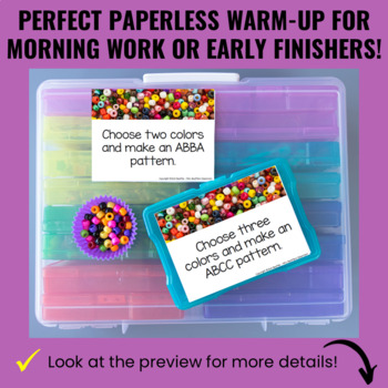 Math Morning Work Warm-Up Task Cards - Perfect for Early Finishers! EDITABLE