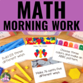 Math Morning Work | EDITABLE No-Prep Hands-On Task Cards