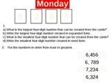Math Morning Work Week 1