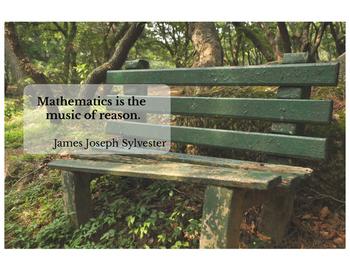 Math Motivational Poster, James Joseph Sylvester