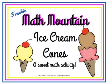 Math Mountain Ice Cream Cones