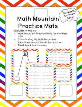 Math Mountain Practice Mats