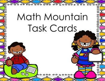 Math Mountain Task Card Teen Numbers