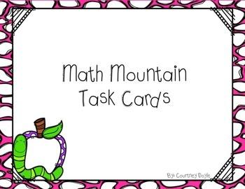 Math Mountain Task Cards Center