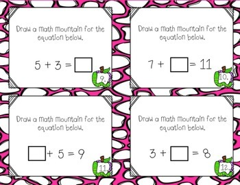 Math Mountain Task Cards Center