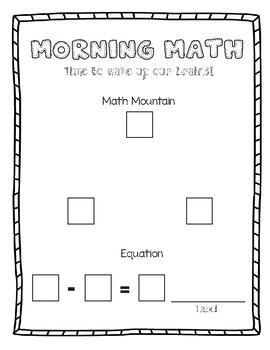 Math Mountain Template