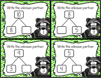 Math Mountain Unknown Partner Task Cards