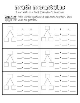 math mountains by nicole lemmon teachers pay teachers. Black Bedroom Furniture Sets. Home Design Ideas