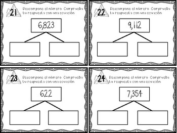 Math Mountains: Decomposing Numbers/ Descomponer los Números
