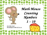 Math Mouse Counting Numbers 1-10
